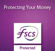 Protecting Your Money. FSCS Protected. Logo