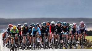 Bunch of Cyclists at Tour de Yorkshire