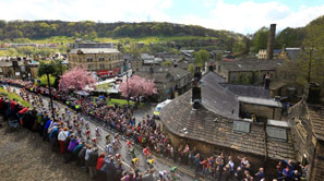 Arial shot of Tour de Yorkshire