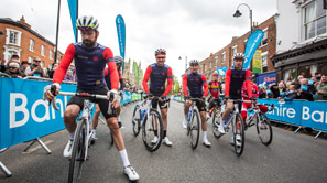 Competetors waiting to start Tour de Yorkshire